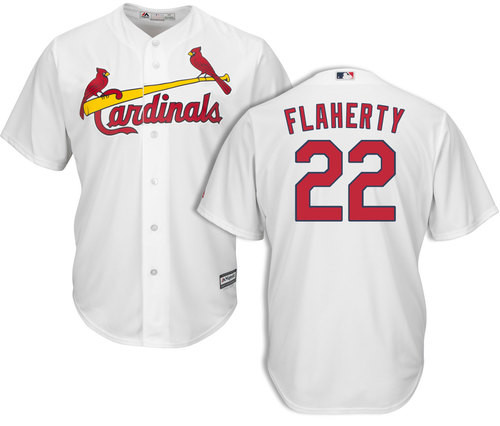 Cardinals #22 Jack Flaherty White New Cool Base Stitched MLB Jersey