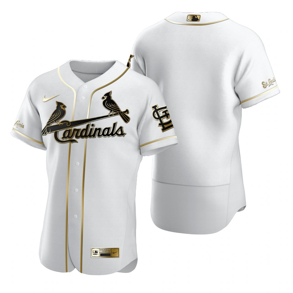 St. Louis Cardinals Blank White Nike Men's Authentic Golden Edition MLB Jersey