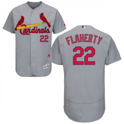 Cardinals #22 Jack Flaherty Grey Flexbase Authentic Collection Stitched MLB Jersey