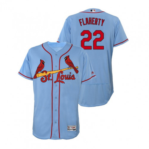 Cardinals #22 Jack Flaherty Light Blue Flexbase Authentic Collection Stitched MLB Jersey