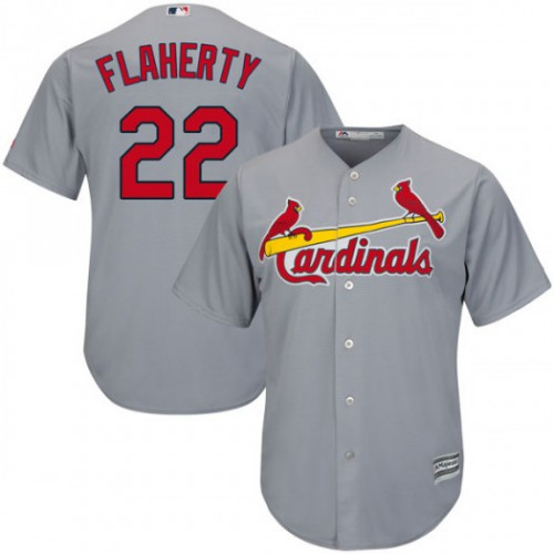 Cardinals #22 Jack Flaherty Grey New Cool Base Stitched MLB Jersey