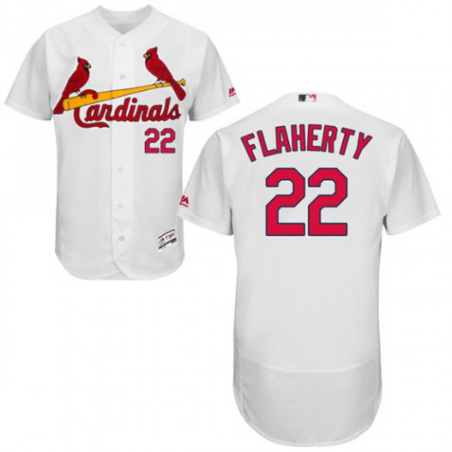 Cardinals #22 Jack Flaherty White Flexbase Authentic Collection Stitched MLB Jersey