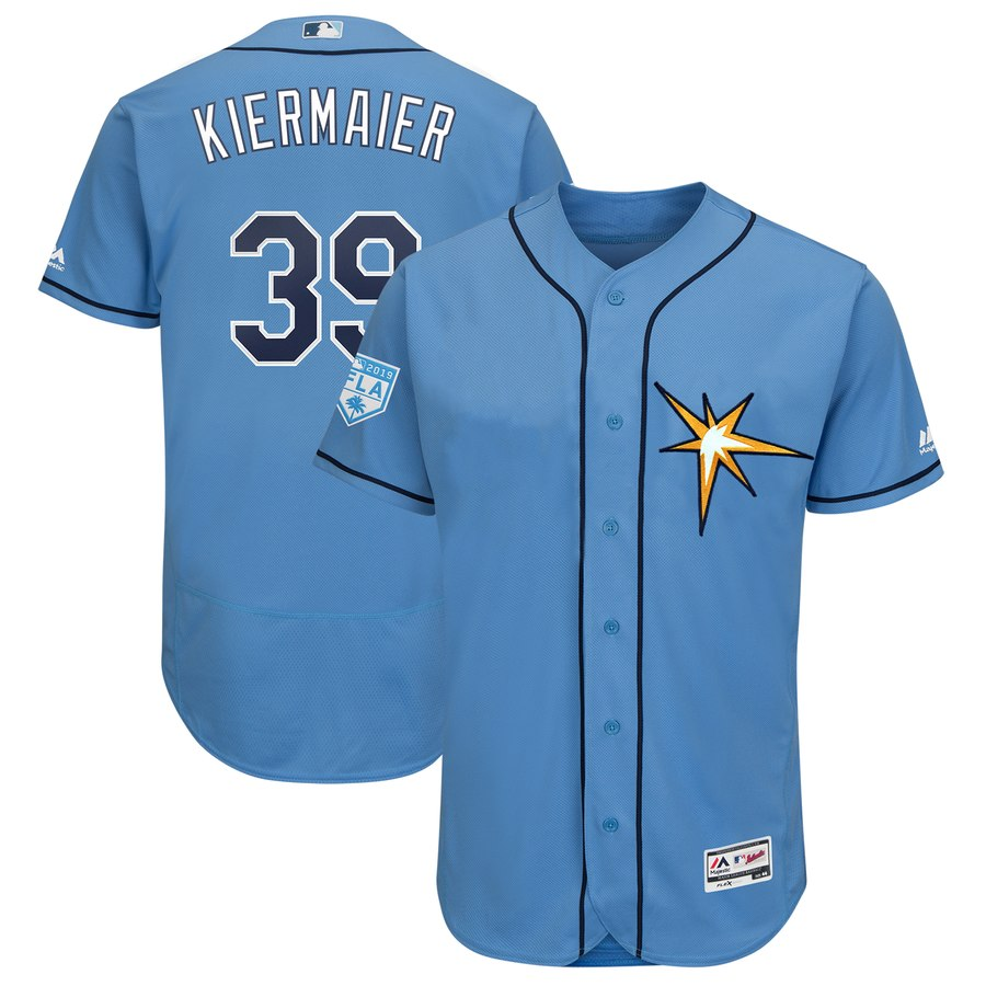 Rays #39 Kevin Kiermaier Light Blue 2019 Spring Training Flex Base Stitched MLB Jersey