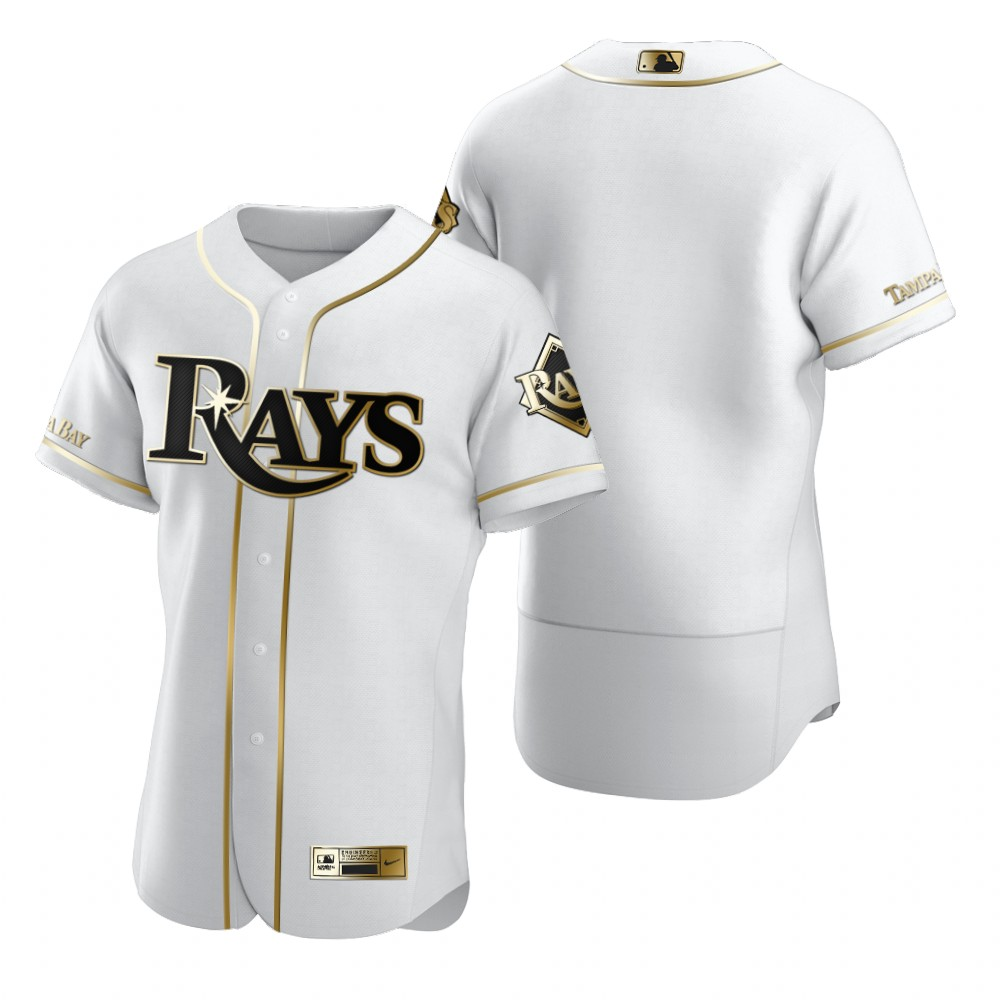 Tampa Bay Rays Blank White Nike Men's Authentic Golden Edition MLB Jersey