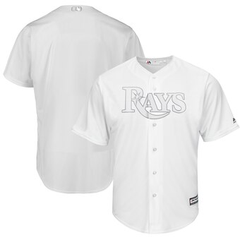 Tampa Bay Rays Blank Majestic 2019 Players' Weekend Cool Base Team Jersey White