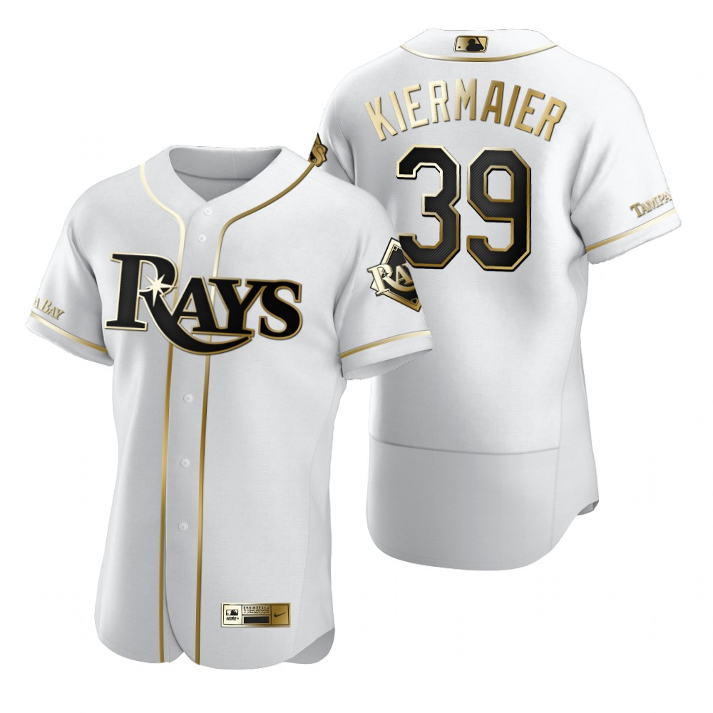 Tampa Bay Rays #39 Kevin Kiermaier White Nike Men's Authentic Golden Edition MLB Jersey