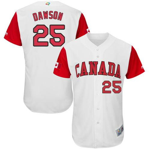 Team Canada #25 Shane Dawson White 2017 World MLB Classic Authentic Stitched MLB Jersey