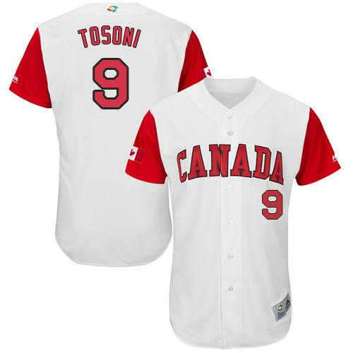 Team Canada #9 Rene Tosoni White 2017 World MLB Classic Authentic Stitched MLB Jersey