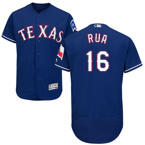 Rangers #16 Ryan Rua Blue Flexbase Authentic Collection Stitched MLB Jersey