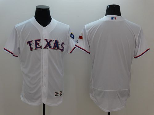 Rangers Blank White Flexbase Authentic Collection Stitched MLB Jersey