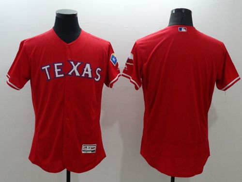 Rangers Blank Red Flexbase Authentic Collection Stitched MLB Jersey