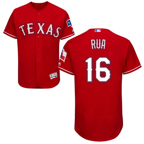 Rangers #16 Ryan Rua Red Flexbase Authentic Collection Stitched MLB Jersey