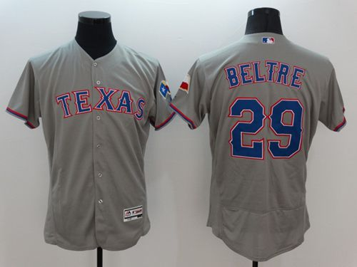 Rangers #29 Adrian Beltre Grey Flexbase Authentic Collection Stitched MLB Jersey