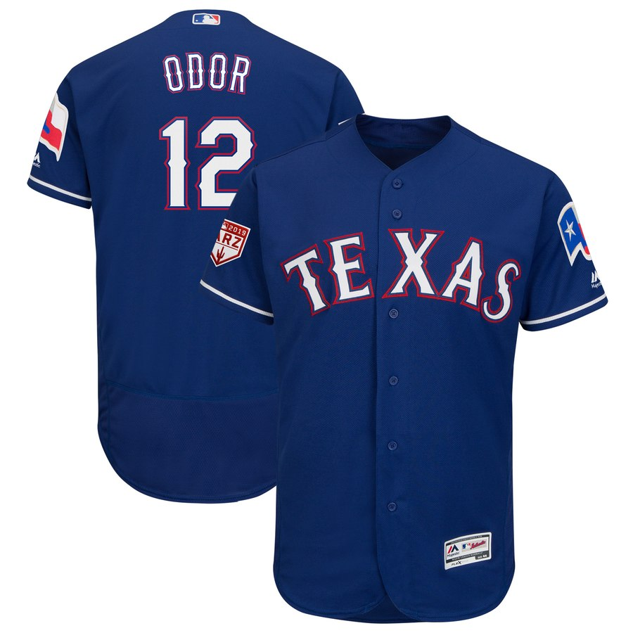Rangers #12 Rougned Odor Blue 2019 Spring Training Flex Base Stitched MLB Jersey