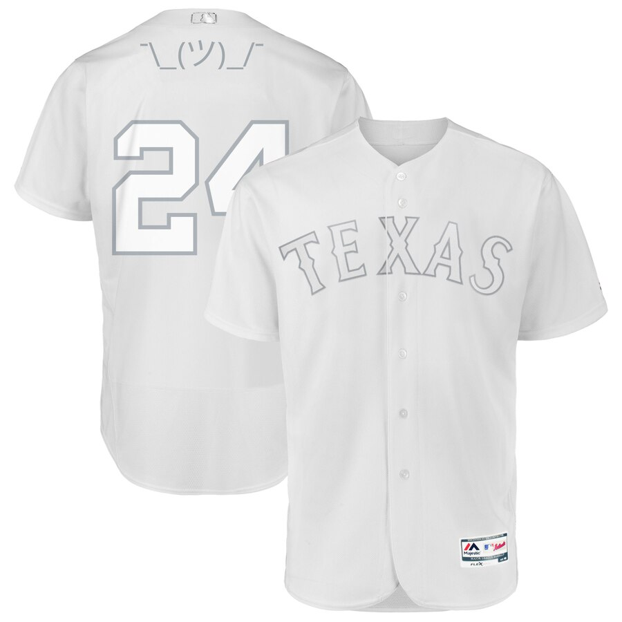 Texas Rangers #24 Hunter Pence Majestic 2019 Players' Weekend Flex Base Authentic Player Jersey White