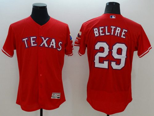 Rangers #29 Adrian Beltre Red Flexbase Authentic Collection Stitched MLB Jersey