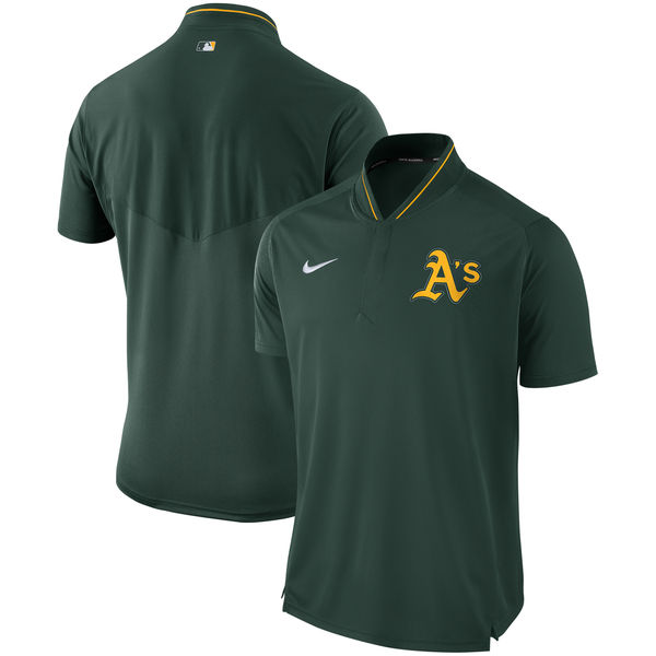 Men's Oakland Athletics Green Authentic Collection Elite Performance Polo