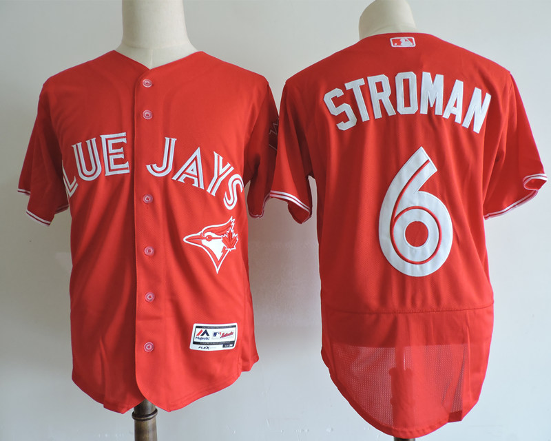 Men's Toronto Blue Jays #6 Marcus Stroman Red Elite Stitched MLB Jersey