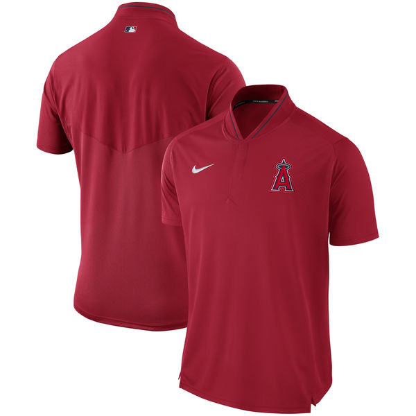 Men's Los Angeles Angels Red Authentic Collection Elite Performance Polo