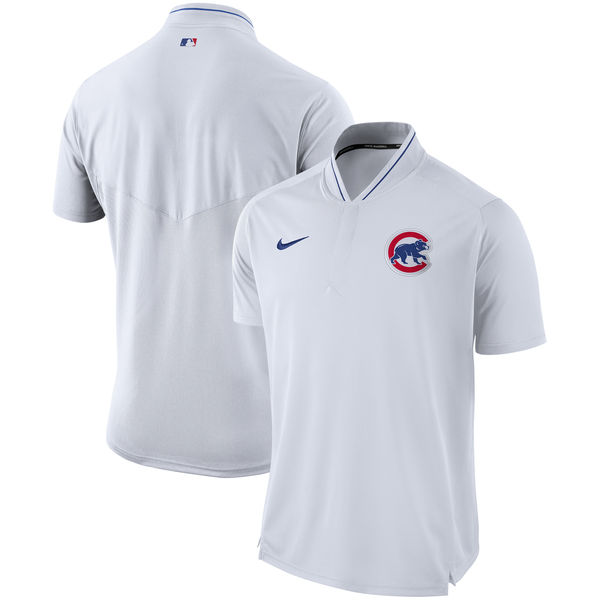 Men's Chicago Cubs White Authentic Collection Elite Performance Polo