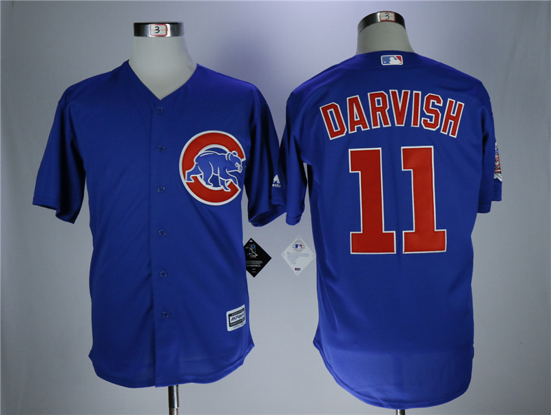 Men's Chicago Cubs #11 Yu Darvish Royal Cool Base Stitched MLB Jersey