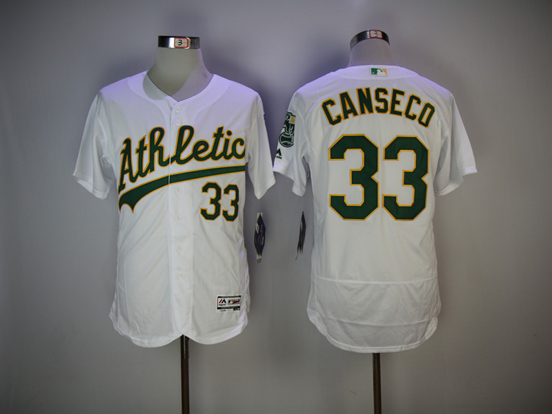 Men's Oakland Athletics #33 Jose Canseco White Flexbase Stitched MLB Jersey
