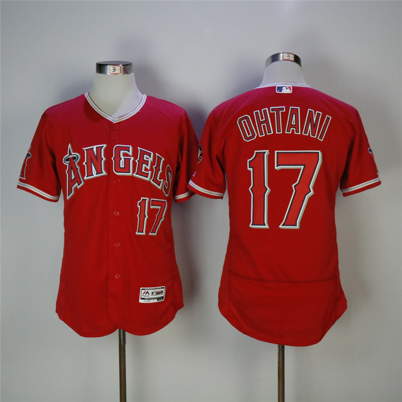 Men's Los Angeles Angels #17 Shohei Ohtani Red Flexbase Stitched MLB Jersey