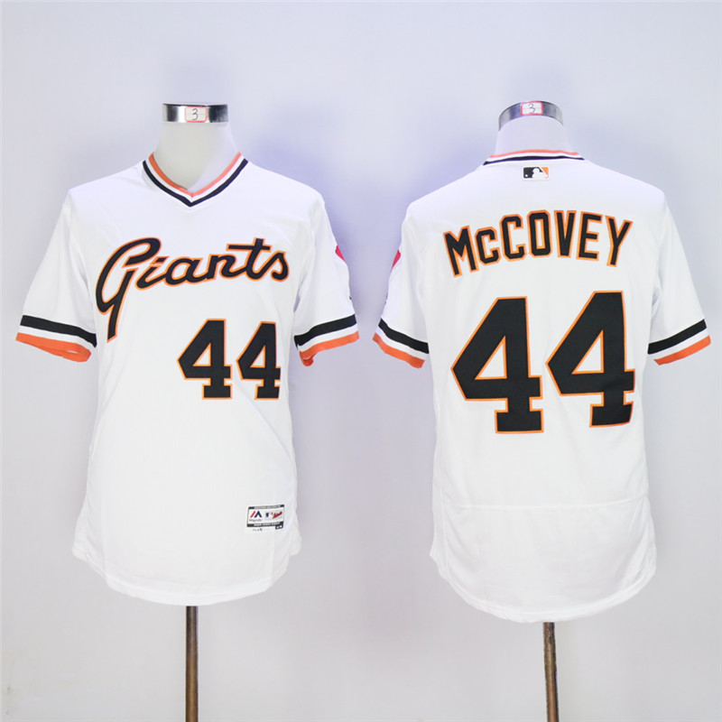 Men's San Francisco Giants #44 Willie McCovey Throwback Flexbase Stitched MLB Jersey
