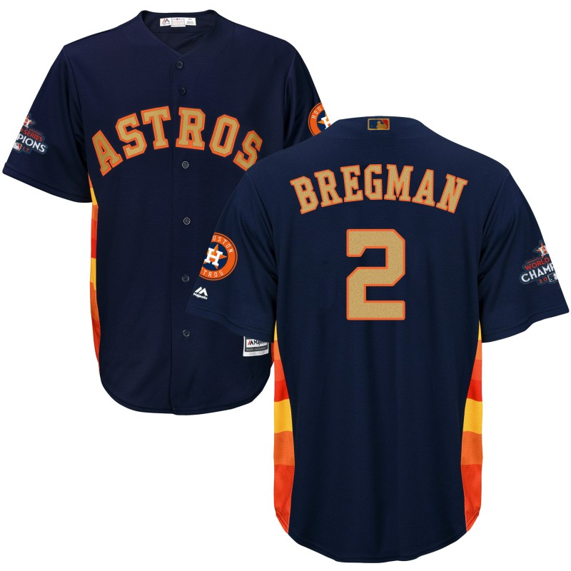 Men's Houston Astros #2 Alex Bregman Navy 2018 Orange Program Cool Base Stitched MLB Jersey