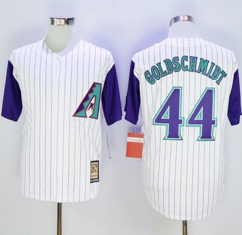 Diamondbacks #44 Paul Goldschmidt White Hall Of Fame Cool Base Stitched MLB Jersey