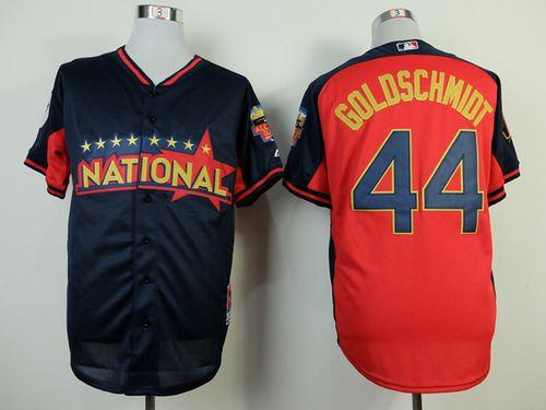 Diamondbacks #44 Paul Goldschmidt Navy/Red National League 2014 All Star BP Stitched MLB Jersey