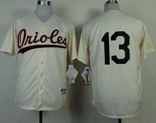 Orioles #13 Manny Machado Cream 1954 Turn Back The Clock Stitched MLB Jersey