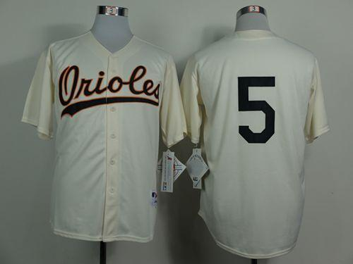 Orioles #5 Brooks Robinson Cream 1954 Turn Back The Clock Stitched MLB Jersey