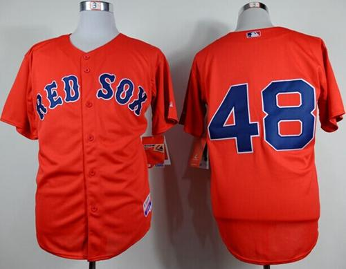 Red Sox #48 Pablo Sandoval Red Cool Base Stitched MLB Jersey