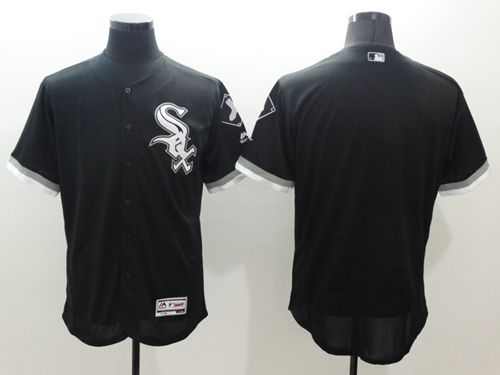 White Sox Blank Black Flexbase Authentic Collection Stitched MLB Jersey