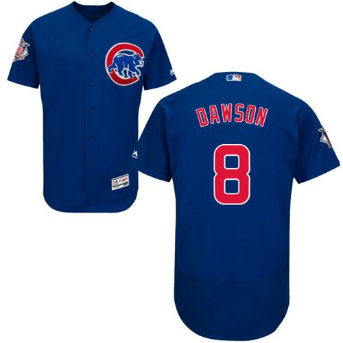 Cubs #8 Andre Dawson Blue Flexbase Authentic Collection Stitched MLB Jersey