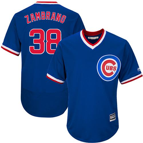 Cubs #38 Carlos Zambrano Blue Flexbase Authentic Collection Cooperstown Stitched MLB Jersey