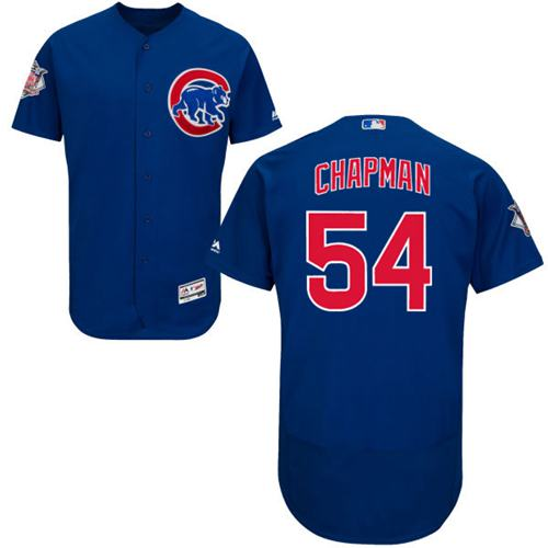 Cubs #54 Aroldis Chapman Blue Flexbase Authentic Collection Stitched MLB Jersey