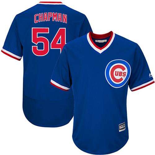 Cubs #54 Aroldis Chapman Blue Flexbase Authentic Collection Cooperstown Stitched MLB Jersey
