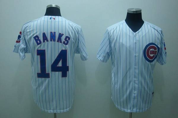 Cubs #14 Ernie Banks Stitched White MLB Jersey