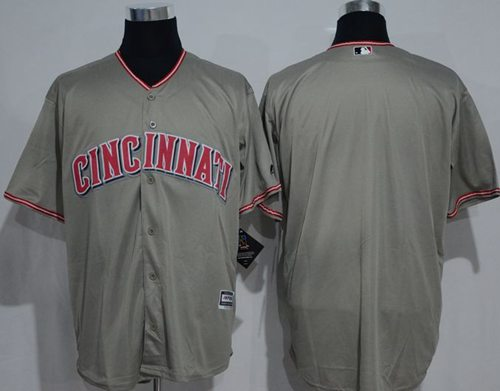 Reds Blank Grey New Cool Base Stitched MLB Jersey