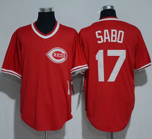 Mitchell And Ness 1990 Reds #17 Chris Sabo Red Throwback Stitched MLB Jersey