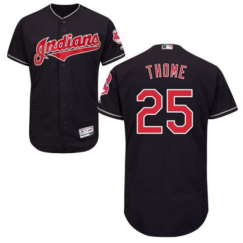 Indians #25 Jim Thome Navy Blue Flexbase Authentic Collection Stitched MLB Jersey