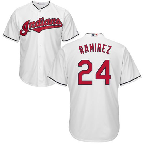 Indians #24 Manny Ramirez White New Cool Base Stitched MLB Jersey