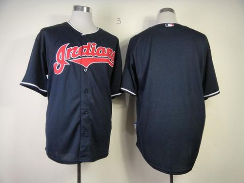 Indians Blank Navy Blue Cool Base Stitched MLB Jersey