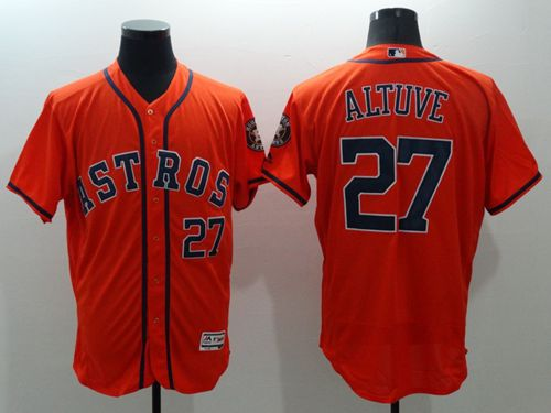 Astros #27 Jose Altuve Orange Flexbase Authentic Collection Stitched MLB Jersey