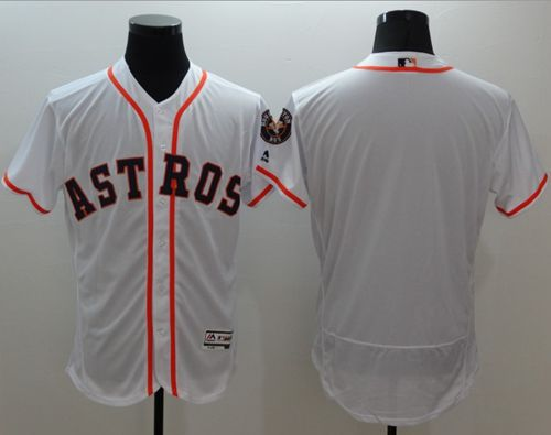 Astros Blank White Flexbase Authentic Collection Stitched MLB Jersey