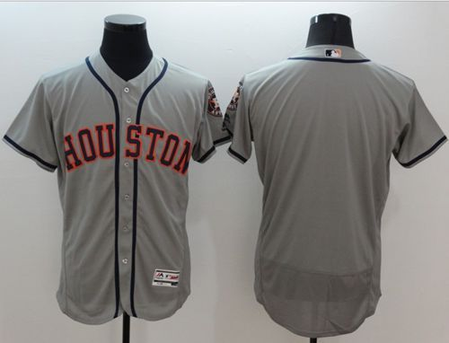 Astros Blank Grey Flexbase Authentic Collection Stitched MLB Jersey