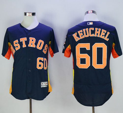 Astros #60 Dallas Keuchel Navy Blue Flexbase Authentic Collection Stitched MLB Jersey