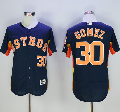 Astros #30 Carlos Gomez Navy Blue Flexbase Authentic Collection Stitched MLB Jersey
